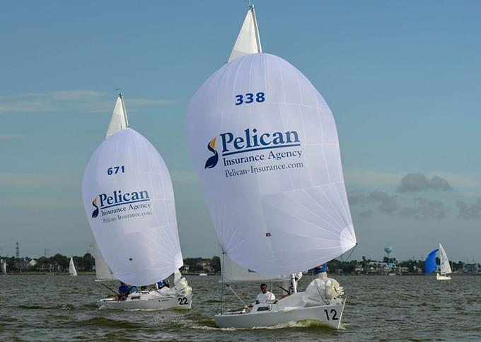 sailboats with pelican sails